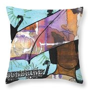 Raindrops... And Sunshine Throw Pillow by Angela L Walker