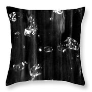 Raindrops In Slow Motion Throw Pillow