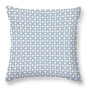 Raindrops Ltblue Pattern Throw Pillow