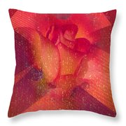 Raindrops On A Beautiful Rosebud Throw Pillow