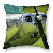 Raindrops On A Cessna - 2018 Christopher Buff, Www.aviationbuff. Throw Pillow