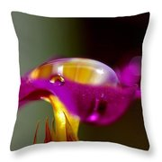 Raindrops On A Pink Flower Throw Pillow