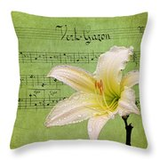 Raindrops On Lily Throw Pillow
