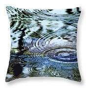 Raindrops On Water Throw Pillow