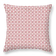 Raindrops Red Pattern Throw Pillow