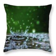 Raindrops Rejuvinate Throw Pillow