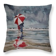 Raindrops To Seaglass Throw Pillow