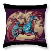Rainey The Dragon-horse Throw Pillow
