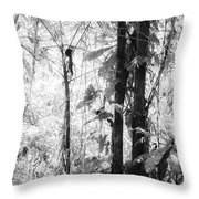 Rainforest Abstract Throw Pillow