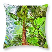 Rainforest Green Throw Pillow