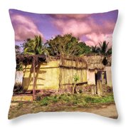 Rainforest Morning Throw Pillow