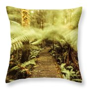 Rainforest Walk Throw Pillow
