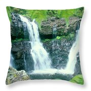 Rainforest Waterfalls Throw Pillow