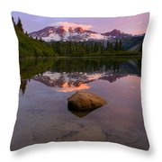 Rainier Dawn Breaking Throw Pillow