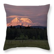 Rainier Dusk Throw Pillow