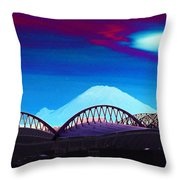 Rainier Over Sodo Throw Pillow