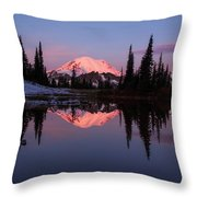 Rainier Sunrise Throw Pillow
