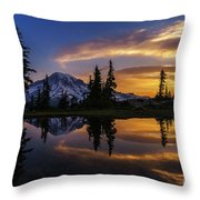 Rainier Sunrise Reflection #2 Throw Pillow