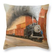 Raining Cinders Throw Pillow