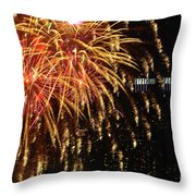 Raining Golden New Year Wishes Throw Pillow
