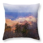 Raining In The Canyon Throw Pillow