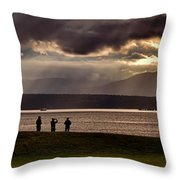 Raining Sunbeams Throw Pillow