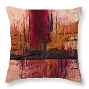 Rains Down Hell Throw Pillow
