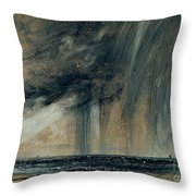 Rainstorm Over The Sea Throw Pillow by John Constable