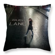 Rainy Cold Whether In London Throw Pillow