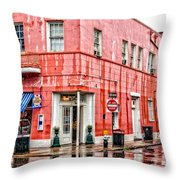 Rainy Corner Throw Pillow