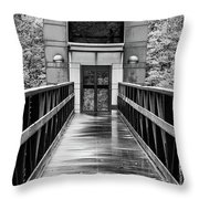 Rainy Day At Crystal Bridges Throw Pillow