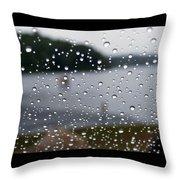 Rainy Day At The Lake Throw Pillow