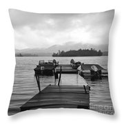 Rainy Day Dock Throw Pillow