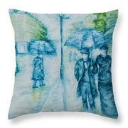 Rainy Day Impression Throw Pillow