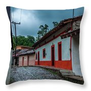 Rainy Day In Copala Throw Pillow