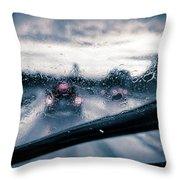 Rainy Day In July Throw Pillow