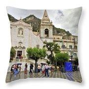 Rainy Day In Taormina 2 Throw Pillow