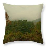 Rainy Day In White Creek Throw Pillow