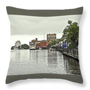 Rainy Day In Wilmington Throw Pillow