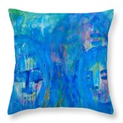 Rainy Day People Throw Pillow
