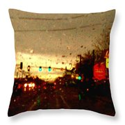 Rainy Evening Throw Pillow