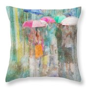 Rainy In Paris 2 Throw Pillow
