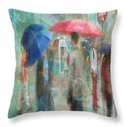 Rainy In Paris 6 Throw Pillow