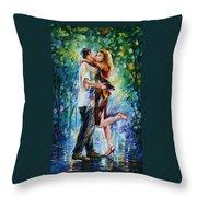 Rainy Kiss Throw Pillow