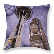 Rainy Needle Throw Pillow