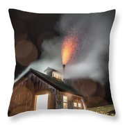 Rainy Night At The Sugarhouse Throw Pillow