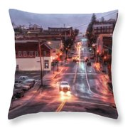 Rainy Night In Marion Throw Pillow
