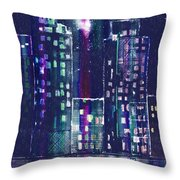 Rainy Night In The City Throw Pillow by Arline Wagner