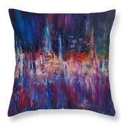 Rainy Night In The Town Throw Pillow