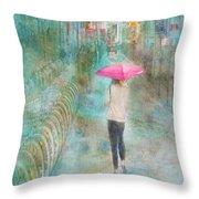 Rainy In Paris 3 Throw Pillow